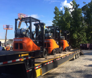 forklifts ready for delivery