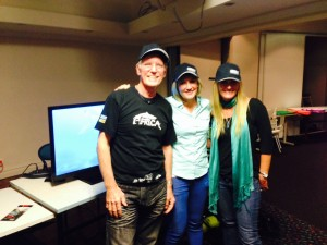Tony with Fern Perry and Liesl Walker July 2014
