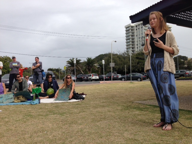 High school student, Hanna, asking the public to contact Ministers for Fisheries and their Ministers for the Environment to highlight the effective and non-lethal alternatives to shark nets and drum lines such as shark spotters programs, clever buoys and eco shark barriers that our governments could be implementing, at no higher cost to tax payers than the culling programs currently implemented