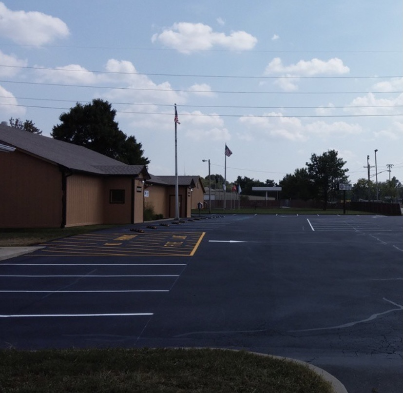 Commercial Parking Lot, Sealed