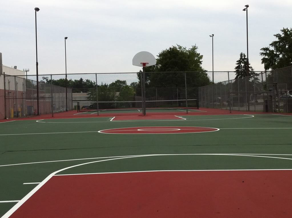 Sports Court Seal Coating and Markings