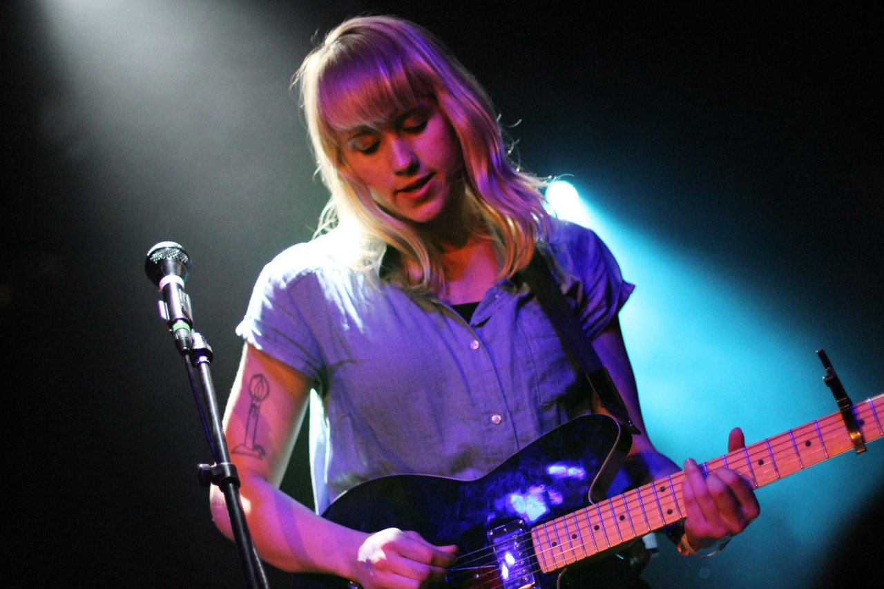 Wye Oak performs at the Merge showcase at The Parish during South By Southwest in Austin, Texas on March 18, 2011.
