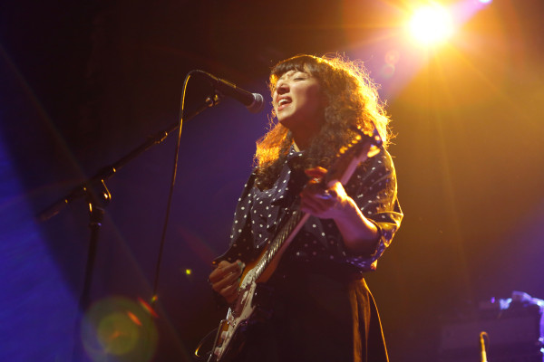 La Luz plays at Webster Hall in New York NY on Sept. 18, 2014.