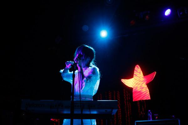 Blonde Redhead plays at Music Hall Of Williamsburg in Williamsburg, Brooklyn NY on Dec. 2, 2014.