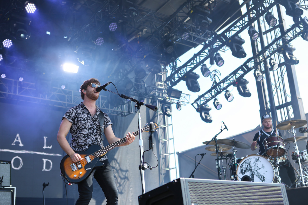 Royal Blood performs on the Big Apple Stage at Governors Ball on Randall's Island, New York, on June 7, 2015. (© Michael Katzif – Do not use or republish without prior consent.)