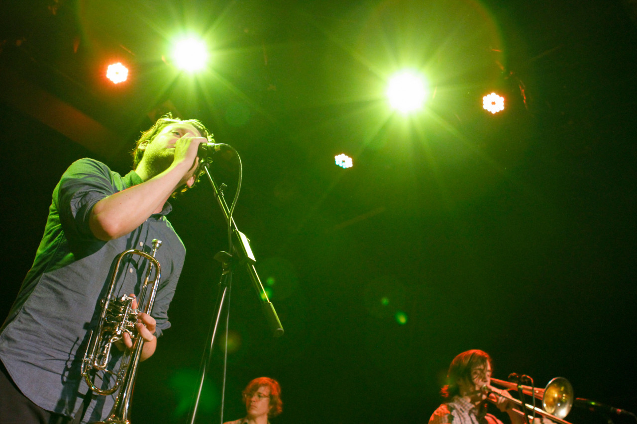 Beirut plays at Bowery Ballroom in New York, NY on June 21, 2015. (© Michael Katzif - Do not use or republish without prior consent.)