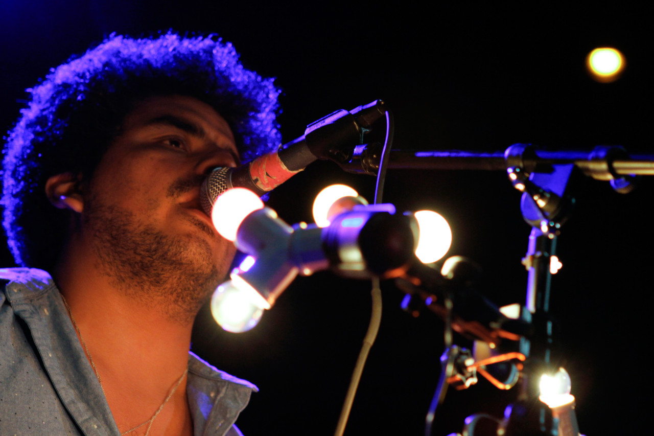 Helado Negro plays at Bowery Ballroom in New York, NY on June 21, 2015. (© Michael Katzif - Do not use or republish without prior consent.)