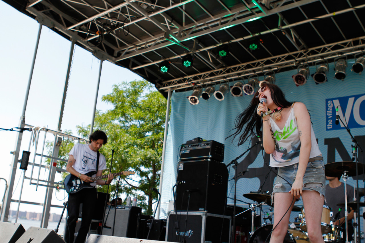 Surfbort performs at Village Voice's 4Knots Festival at Pier 84 in New York, NY on July 11, 2015. (© Michael Katzif – Do not use or republish without prior consent.)