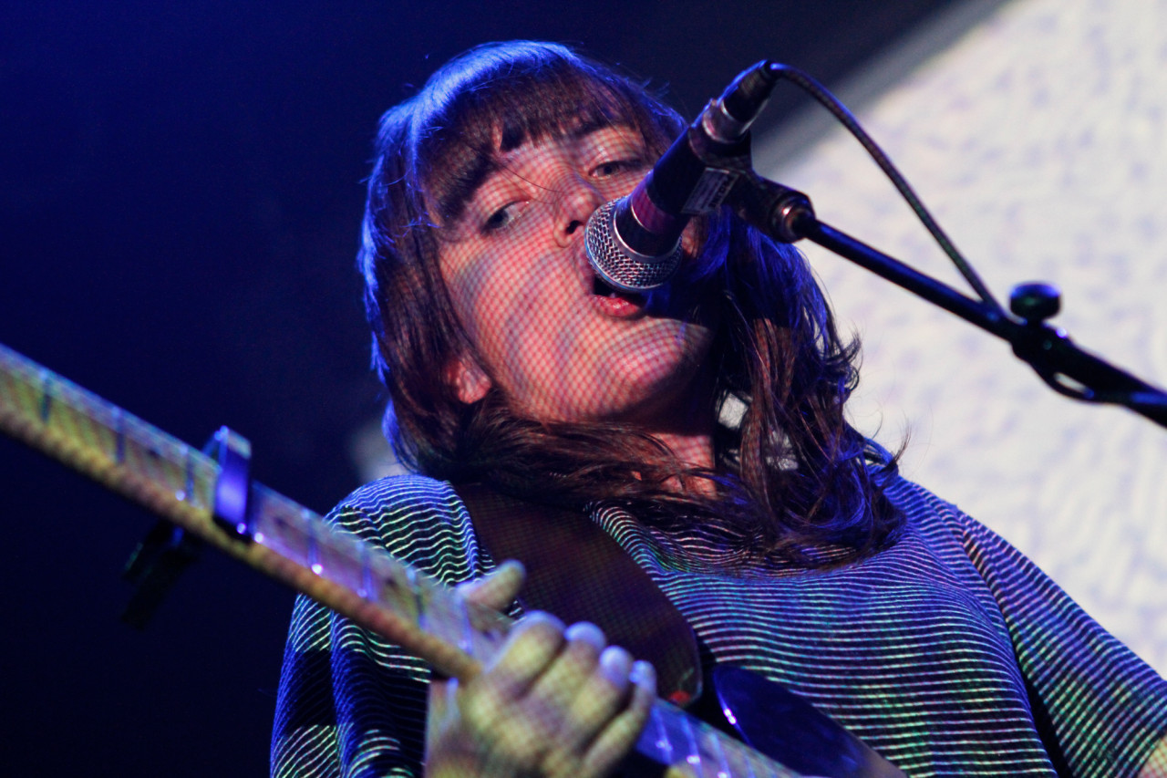 Courtney Barnett plays at Bowery Ballroom in New York, NY on May 21, 2015. (© Michael Katzif - Do not use or republish without prior consent.)