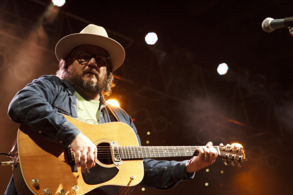 Wilco's Jeff Tweedy plays at CrossroadsKC at Grinder's in Kansas City, MO on Aug. 16, 2016. (© Michael Katzif - Do not use or republish without prior consent.)