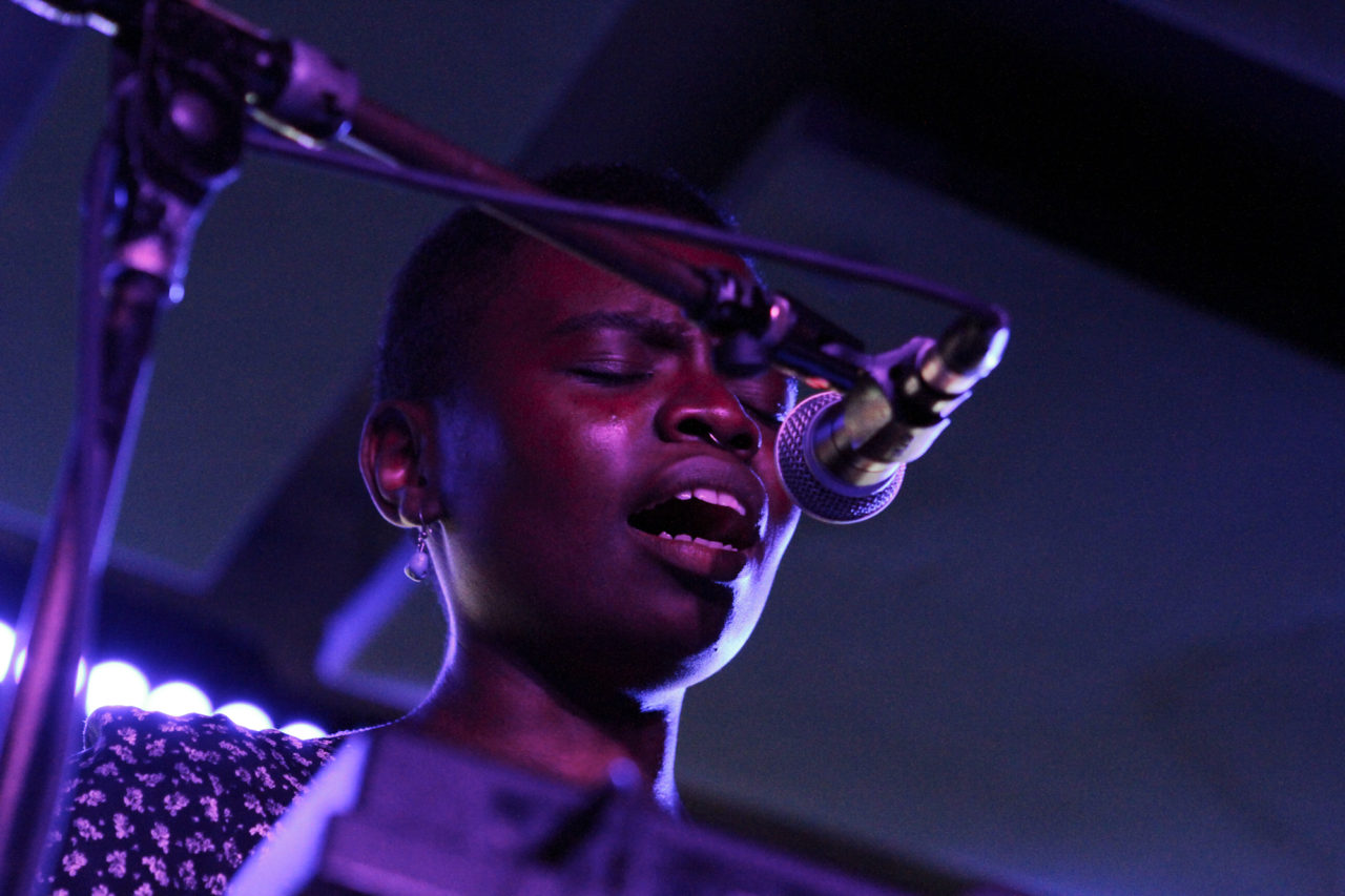 Vagabon plays at Baby's All Right in Brooklyn, NY on Dec. 13, 2016. (© Michael Katzif - Do not use or republish without prior consent.)