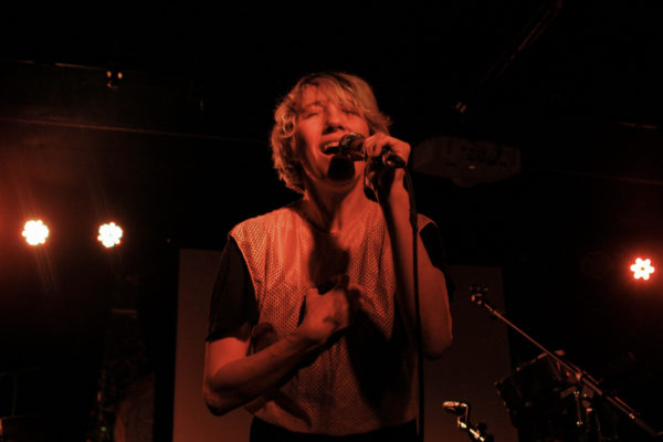 The Blow plays at Brooklyn Bazaar in Greenpoint, Brooklyn, New York on Nov. 10, 2017. (© Michael Katzif - Do not use or republish without prior consent.)