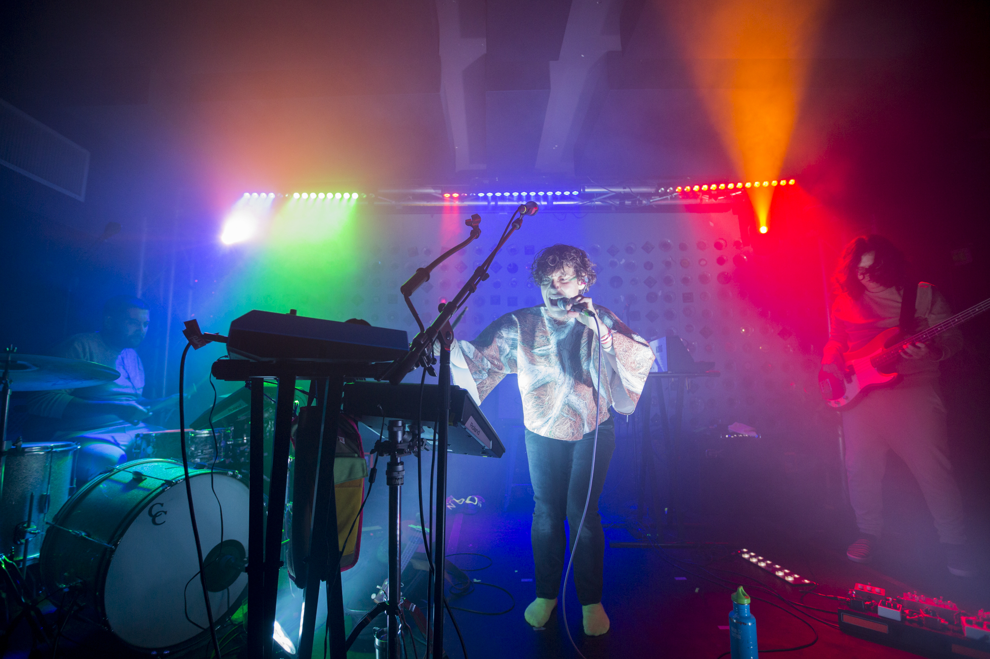 Tune-Yards plays at Baby's All Right in Williamsburg, Brooklyn, New York on Nov. 7, 2017. (© Michael Katzif - Do not use or republish without prior consent.)
