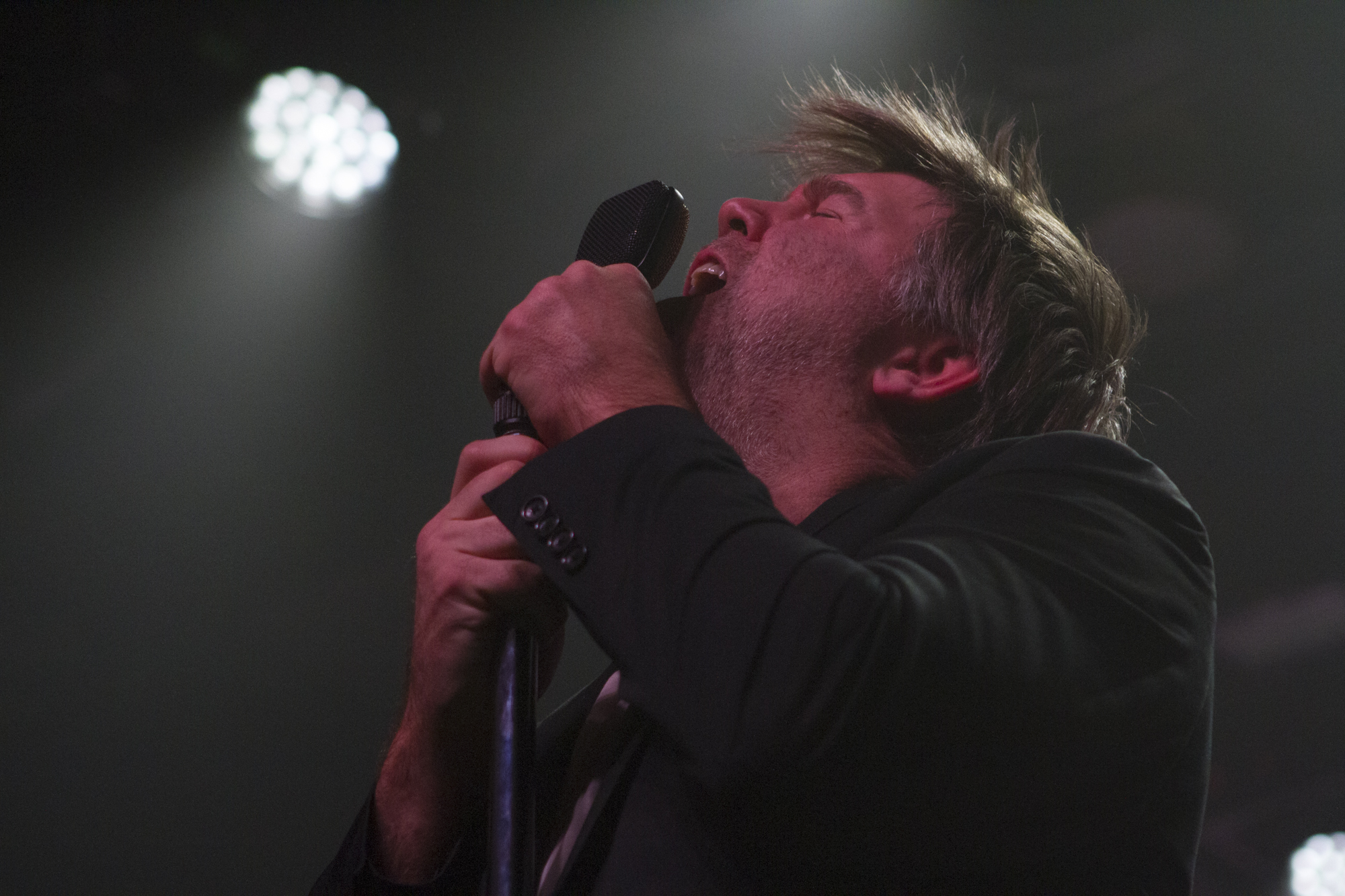 LCD Soundsystem plays at Brooklyn Steel in Williamsburg, Brooklyn, New York on Dec. 12, 2017. (© Michael Katzif - Do not use or republish without prior consent.)