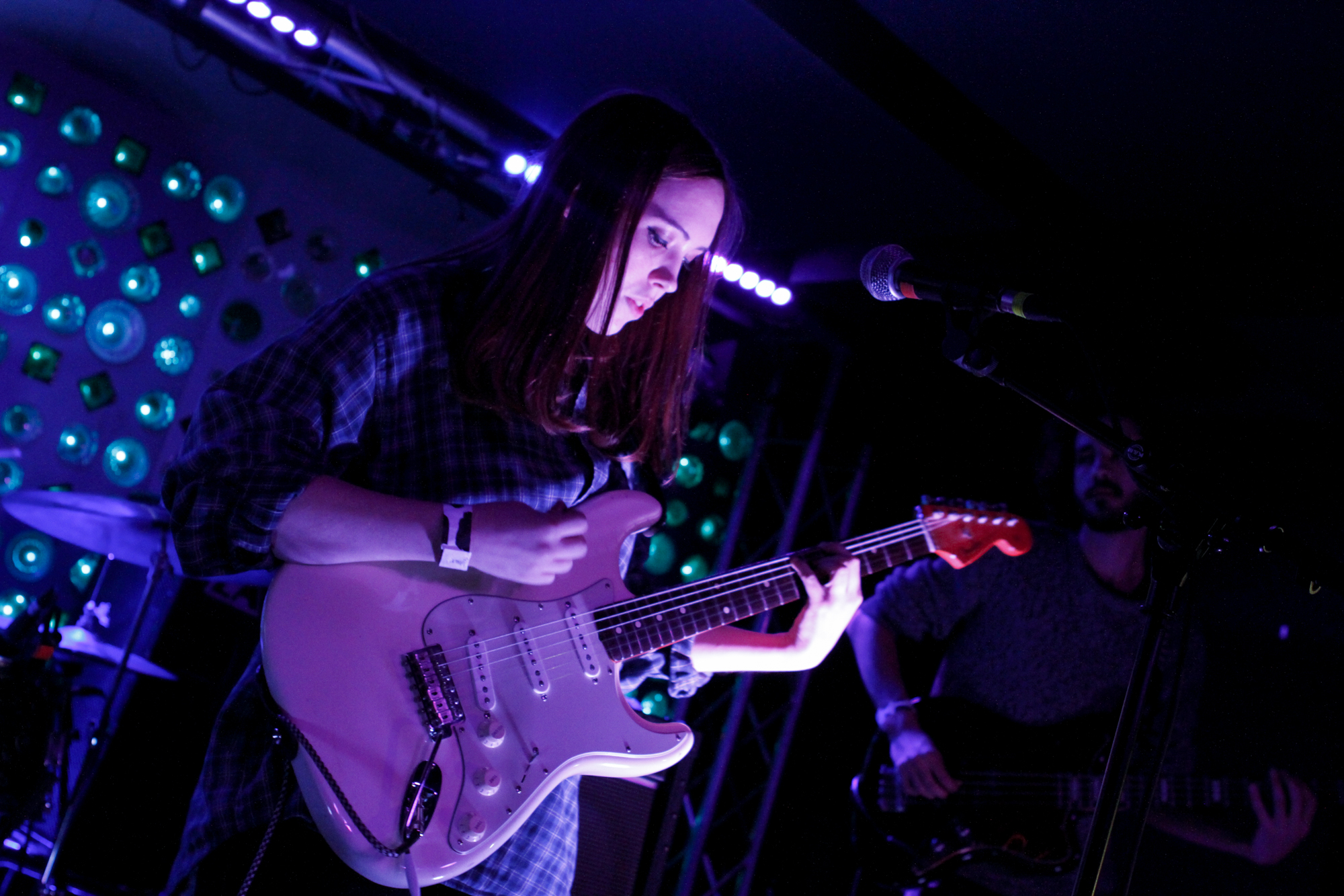 Soccer Mommy plays at Baby's All Right in Williamsburg, Brooklyn, New York on Nov. 14, 2017. (© Michael Katzif - Do not use or republish without prior consent.)