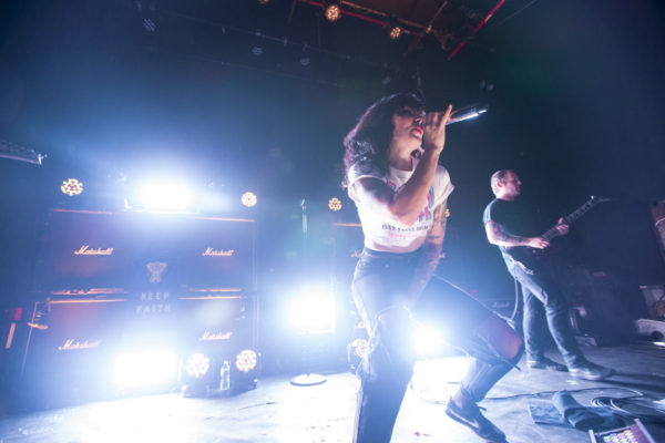 Sleigh Bells play at Rough Trade in Williamsburg, Brooklyn, New York on Jan. 23, 2018. (© Michael Katzif - Do not use or republish without prior consent.)