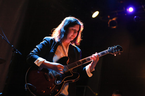 Lucy Dacus plays at Music Hall Of Williamsburg in Williamsburg, Brooklyn, New York on March 2, 2018. (© Michael Katzif - Do not use or republish without prior consent.)