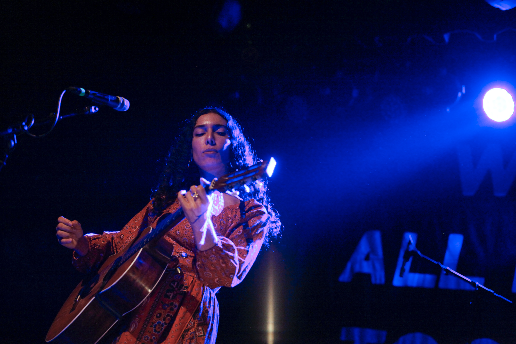 Bedouine plays at Warsaw in Greenpoint, Brooklyn, New York on April 13, 2018. (© Michael Katzif - Do not use or republish without prior consent.)