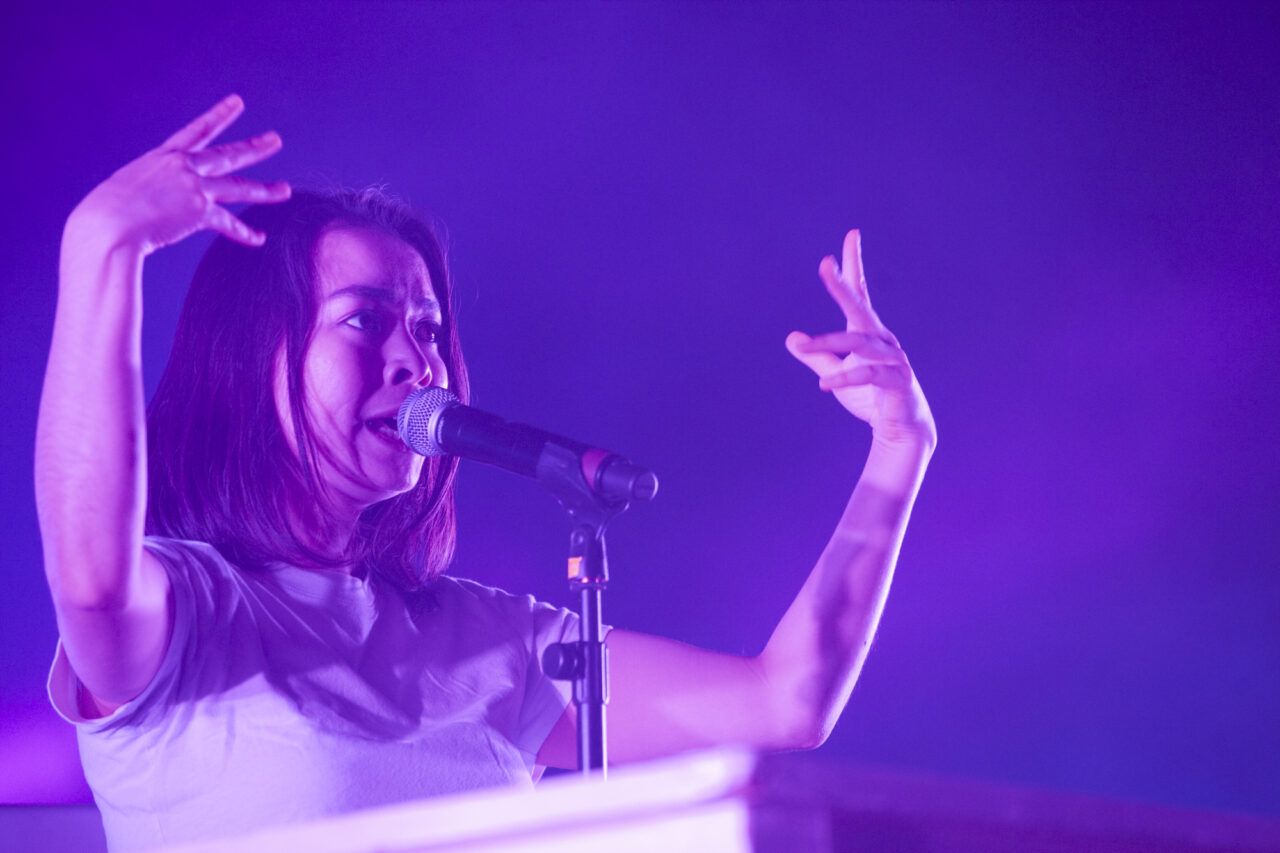 Mitski performs at SummerStage in Central Park in New York on Sept. 7, 2019. (© Michael Katzif - Do not use or republish without prior consent.)