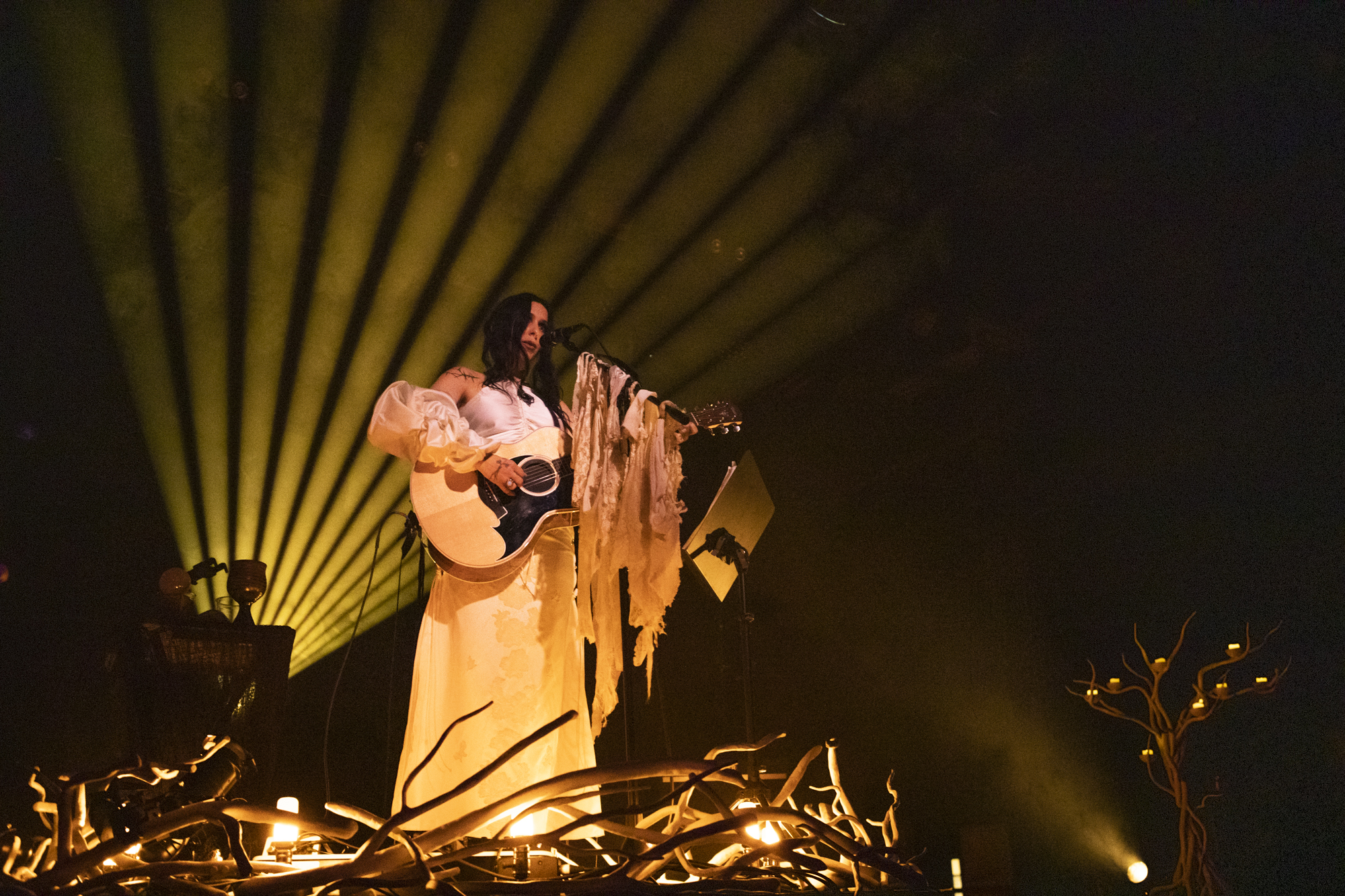 Chelsea Wolfe plays at Brooklyn Steel in Williamsburg, Brooklyn, New York on Nov. 1, 2019. (© Michael Katzif - Do not use or republish without prior consent.)