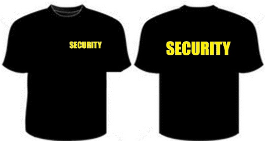 Security Small Front T-Shirt Yellow