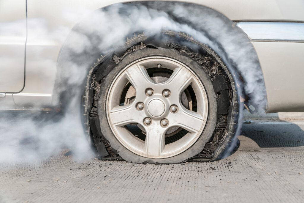 How to Safely Handle a Tire Blowout While Driving