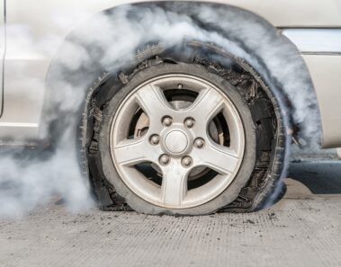 tire blowout while driving