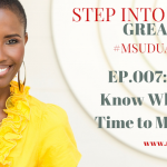 #MsUduakDaily 007: How to Know When it is Time to Move On
