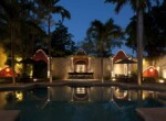 Villa Merida - Pool and Bar at Night