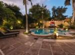 Villa Merida - The Pool Garden looking towards the Pool Bar