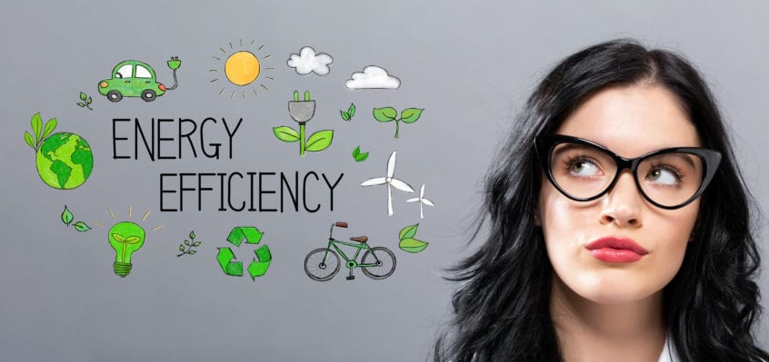Women thinking about energy efficiency