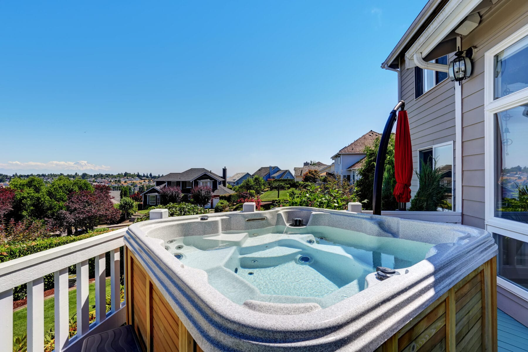 solar-powered hot tub