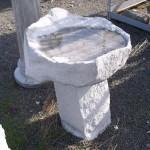 Concrete Bird Bath in Portland, Oregon