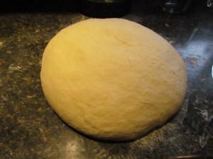 Bun dough before dividing