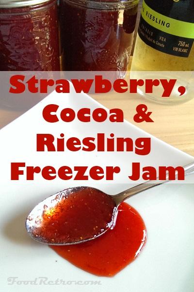 Strawberry Cocoa Riesling Freezer Jam