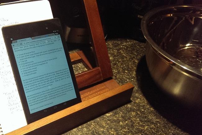 Google Asus Nexus 7 Tablet in the kitchen