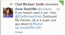 Chef Michael Smith Retweeted my disaster