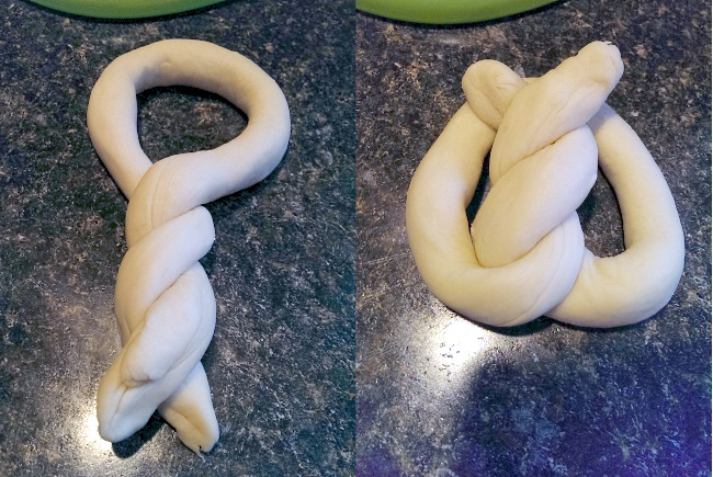 How to shape a pretzel