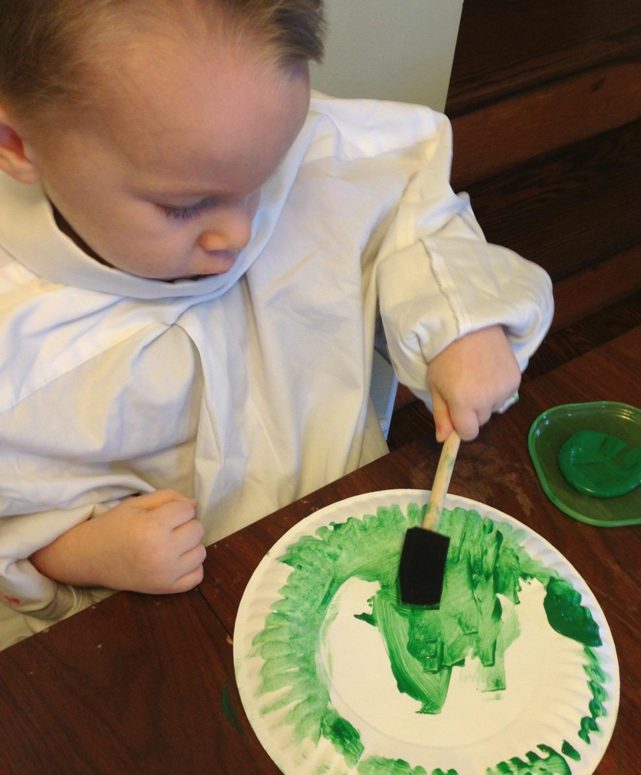 Shamrock_Hat_Painting_Plate