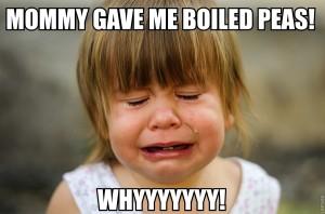 Nobody likes boiled peas