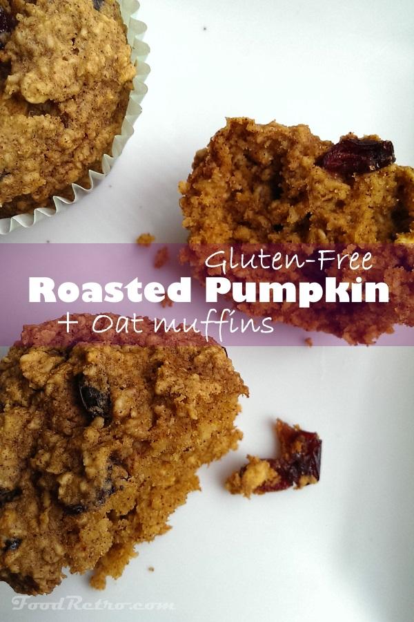 Roasted Pumpkin Puree & Oat Flour Muffins - Gluten Free & High Fiber!