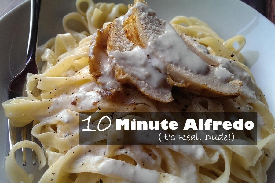 10 Minute 3 Ingredient Easy Fettucini Alfredo