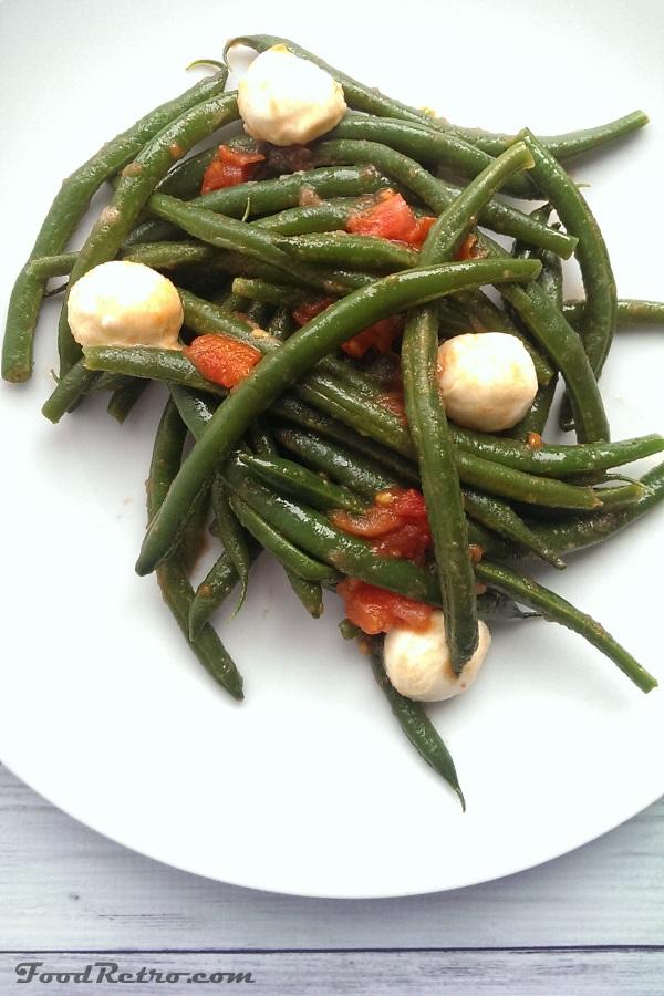 An Italian Classic! - Crisp Green Beans with Ripe Roma Tomatoes and Gooey Mozzarella