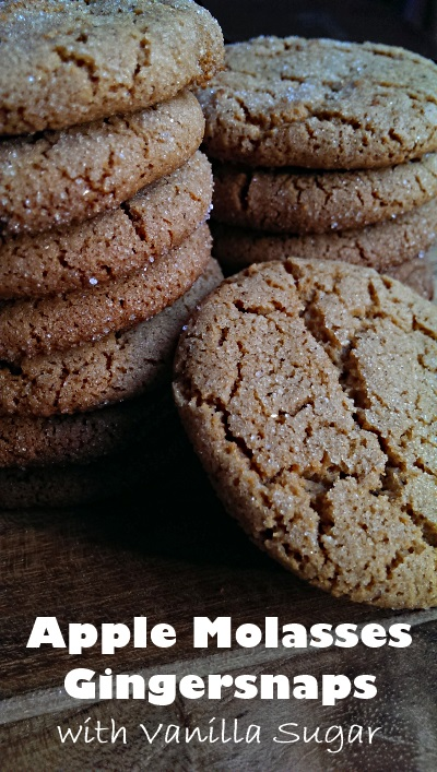 These crisp and decadent Gingersnaps are absolutely fabulous, whether you use vanilla sugar and apple molasses or not! Since they're made with oil, you'll get a perfect cracked crust every time.  A Christmas cookie  in our household. | dairy-free | FoodRetro.com
