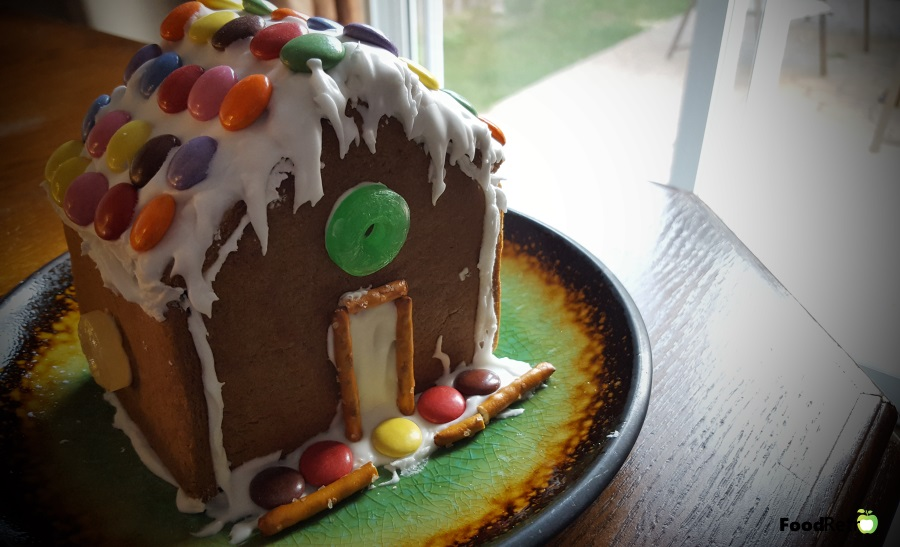 Making your own gingerbread house is a great frugal way to entertain the kids for a weekend without breaking your bank on premade kits. Here's a recipe that makes 4 houses. Try to let the spirit flow. Let the kids go nuts.   FoodRetro.com
