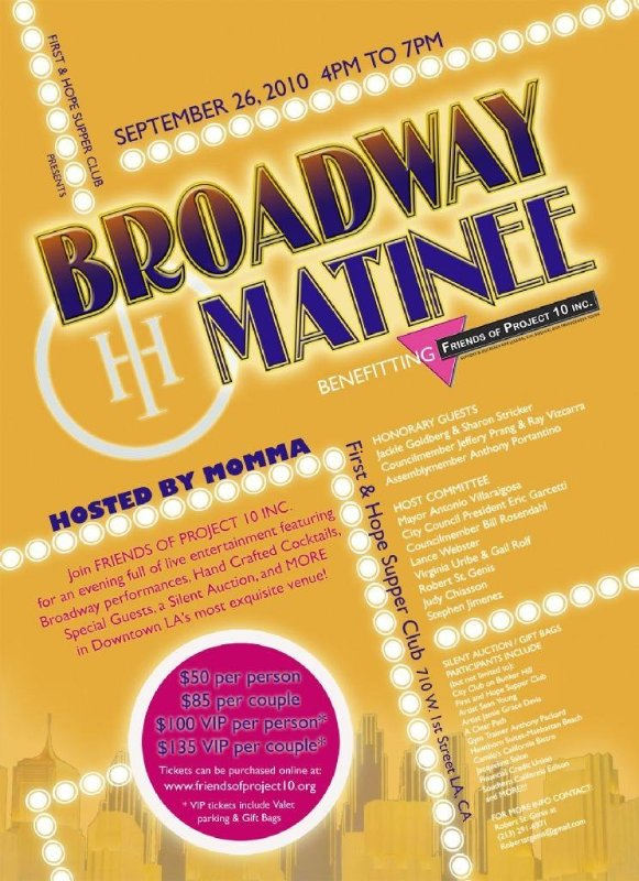 Broadway Matinee (Friends of Project 10)