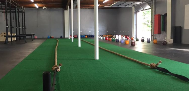 rope and kettle bell setup