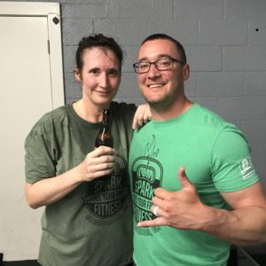 People celebrating 1 year at spark fitness