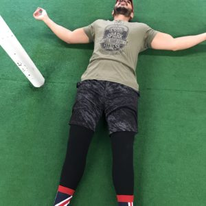 Man laying down after an intense workout