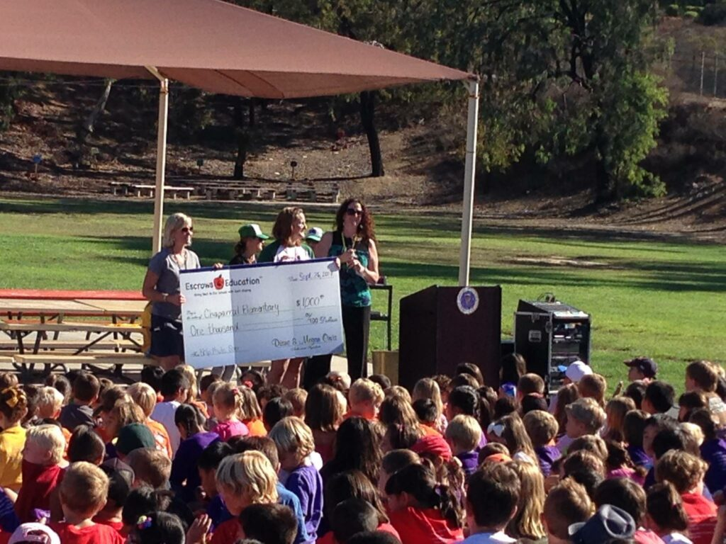 donating $1,000 to poway unified school district